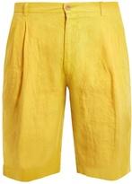 Etro Slim-leg linen shorts