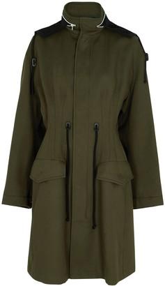 Bottega Veneta Dark Olive Hooded Cotton Coat