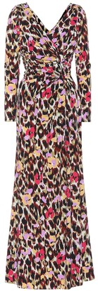 Roberto Cavalli Printed stretch jersey dress