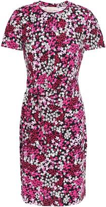 MICHAEL Michael Kors Knotted Floral-print Jersey Mini Dress