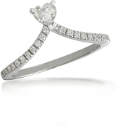 Forzieri Heart Diamond V-Shaped Band Ring