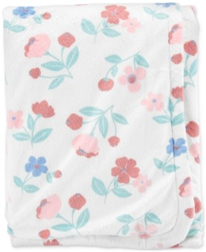 Carter's Baby Girls Plush Floral-Print Blanket