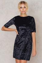 Pleated Velvet Short Dress