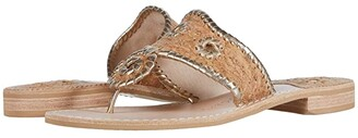 Jack Rogers Jacks Flat Sandal Cork (Natural Cork/Gold) Women's Shoes