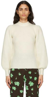 Ganni Off-White Alpaca Soft Sweater
