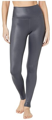 Alo High Waist Shine Airbrush Leggings (Anthracite) Women's Casual Pants