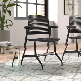 Steelcase Cachet Guest Chair Fabric Options: Seat Fabric Only, Fabric Color: Buzz2 - Tomato (5F03), Glides: Hard Floor Glides
