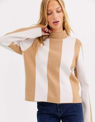Selected cropped jumper-Tan