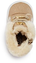 MICHAEL Michael Kors Infant Girls' Faux Fur Trimmed Metallic High Top Sneakers - Baby