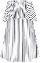 Fashion Union EMIKO STRIPE Summer dress white