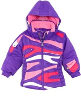 Obermeyer Girls' Kismet Purple Waterproof Ski Jacket.