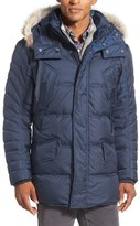 Andrew Marc 'Stowaway' Hooded Parka with Genuine Coyote Fur Trim