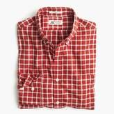 Thomas Mason Slim for J.Crew shirt in brushed windowpane oxford