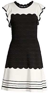 Shoshanna Women's Tami Colorblock Fit-& Flare Dress