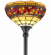 AMORA Amora Lighting AM1045FL14 Tiffany Style TorchiereJeweled Lamp 71 Inches Tall
