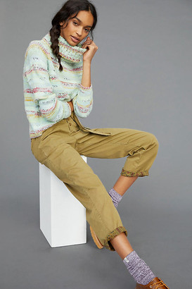 Anthropologie Elysa Cropped Turtleneck Sweater By in Green Size XS