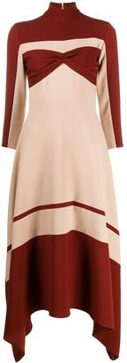 Atu Body Couture Colour-Block Flared Sweater Dress