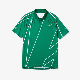 Lacoste Men's SPORT x Novak Djokovic Printed Breathable Polo Shirt