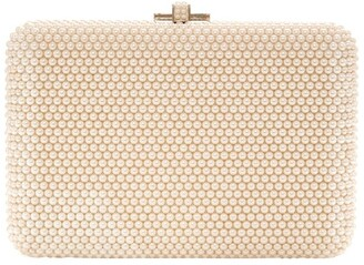 Judith Leiber Slim Slide Pearly Clutch Bag