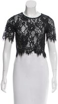 Alexis Sheer Cropped Lace Top