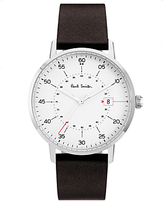 Paul Smith Men's Gauge Date Leather Strap Watch