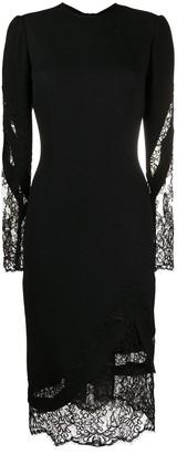 Ermanno Scervino Lace Panelled Midi Dress