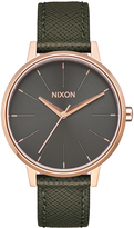 Nixon Kensington Leather Watch Gold