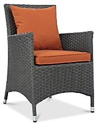 Modway Sojourn Outdoor Patio Sunbrella Rattan Dining Armchair