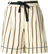 Roberto Collina striped tailored shorts - women - Viscose/Cotton - M