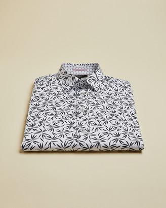 Ted Baker KROLONG Leaf print cotton shirt