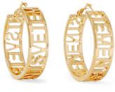 Vetements Gold-plated Hoop Earrings - one size