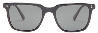 Oliver Peoples Lachman Square Acetate Sunglasses - Mens - Black