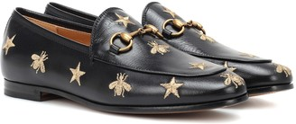 Gucci Jordaan embroidered leather loafers