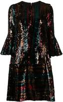 Talbot Runhof sequin cocktail dress