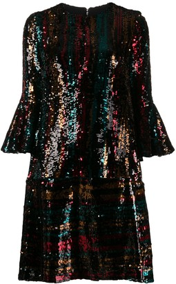 Talbot Runhof Sequin Cocktail Dress