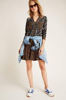 Marlie Button-Front Chambray Tunic