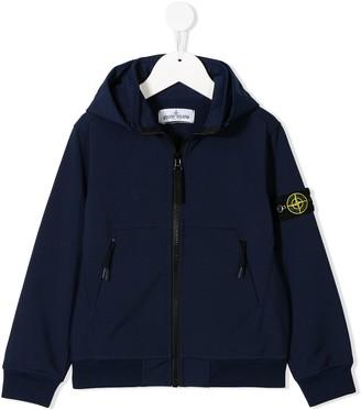 Stone Island Junior Logo Patch Hooded Jacket