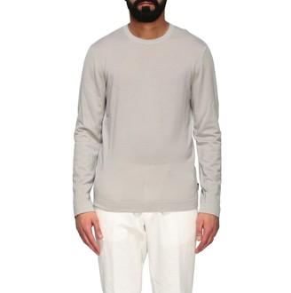 Ermenegildo Zegna Crew Neck Sweater In Washed Garment Dyed Wool