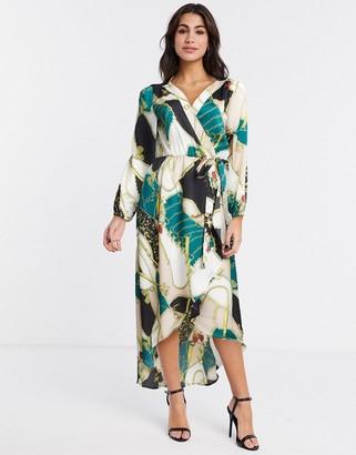 AX Paris chain print wrap dress