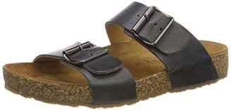 Haflinger Unisex Adults' Andrea T-Bar Sandals, Blue (Bali 835)