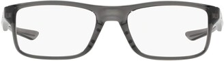 Oakley OX8081 Plank 2.0 Rectangular Prescription Eyeglass Frames