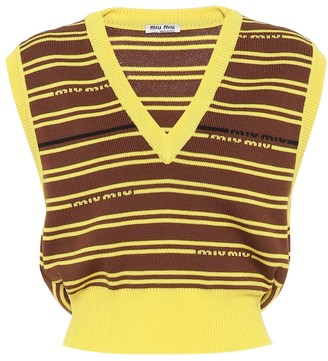Miu Miu Striped intarsia wool sweater vest