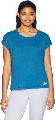 Skechers Women's Cropped Drap Short Sleeve Tee T-Shirt