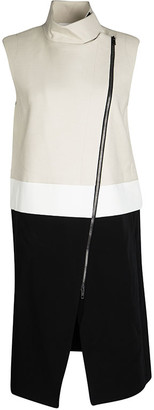 Joseph Tricolor Zip Detail Preston Sleeveless Long Coat M