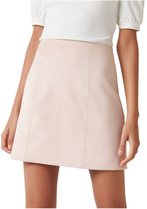 Forever New Scarlette Seamed Suedette Mini Skirt