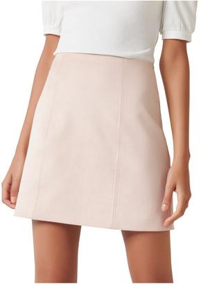 Forever New Scarlette Seamed Suedette Mini Skirt