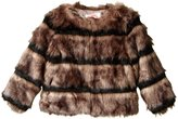 Appaman Faux Fur Coat (Toddler/Kid) - Wolf Grey - 7