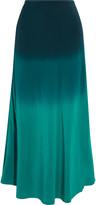 Thumbnail for your product : Rixo Kelly Degrade Silk Crepe De Chine Midi Skirt