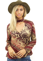 West Coast Wardrobe Seize the Day Keyhole Top in Multi