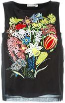 Mary Katrantzou 'Sepack' embroidered organza top - women - Silk - 12